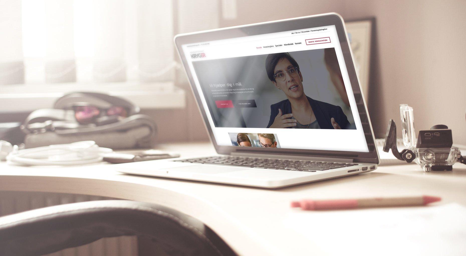 advokatkryger.dk case - lennartc webdesign