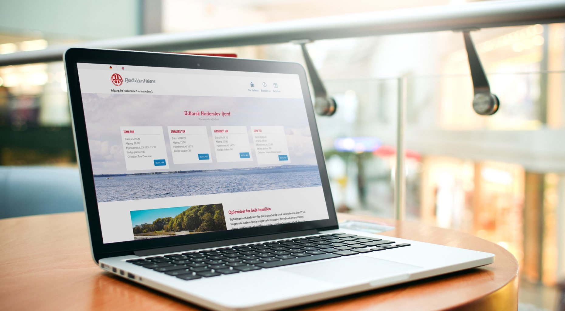 Wordpress udvikling LENNART C - fjordbaaden.dk case