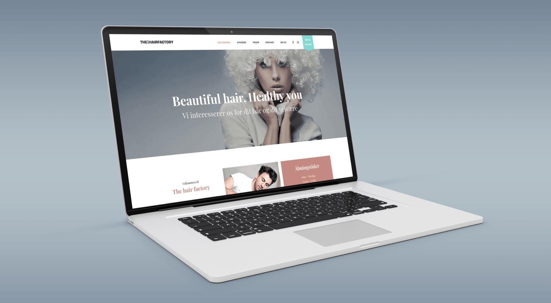 hjemmeside til frisør - webdesigner LENNART C