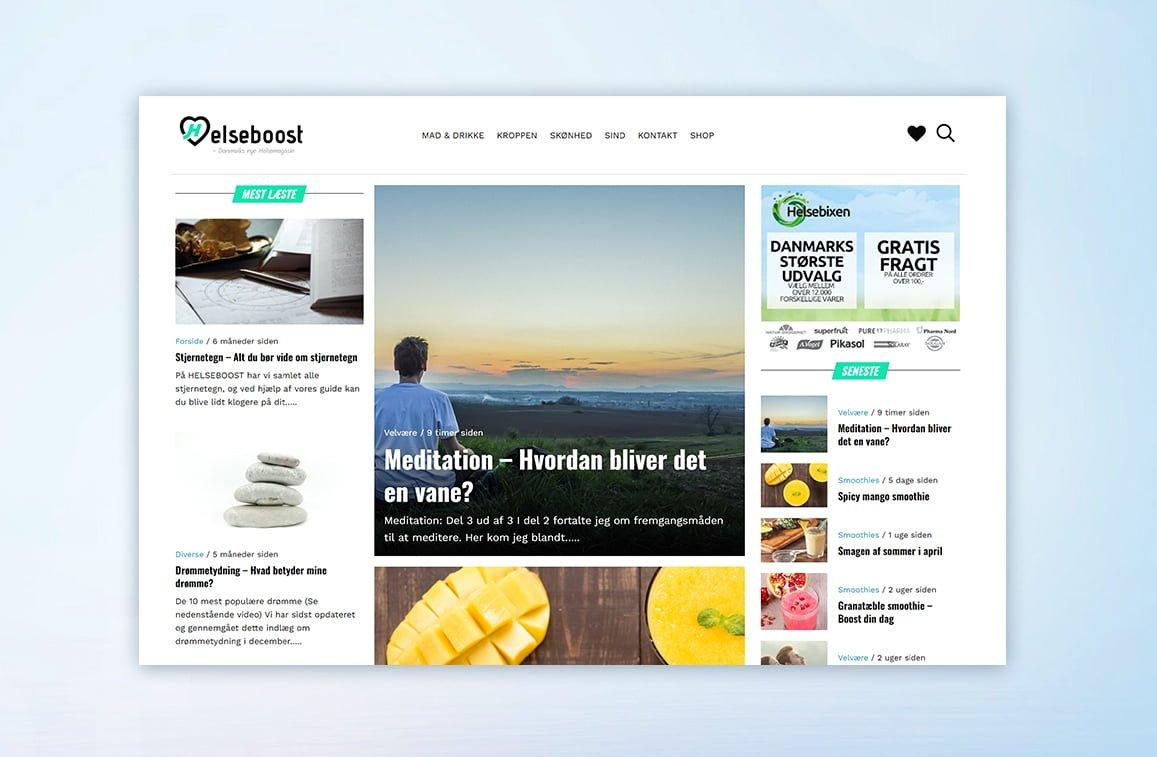 Helseboost.dk case - lennartc webdesign
