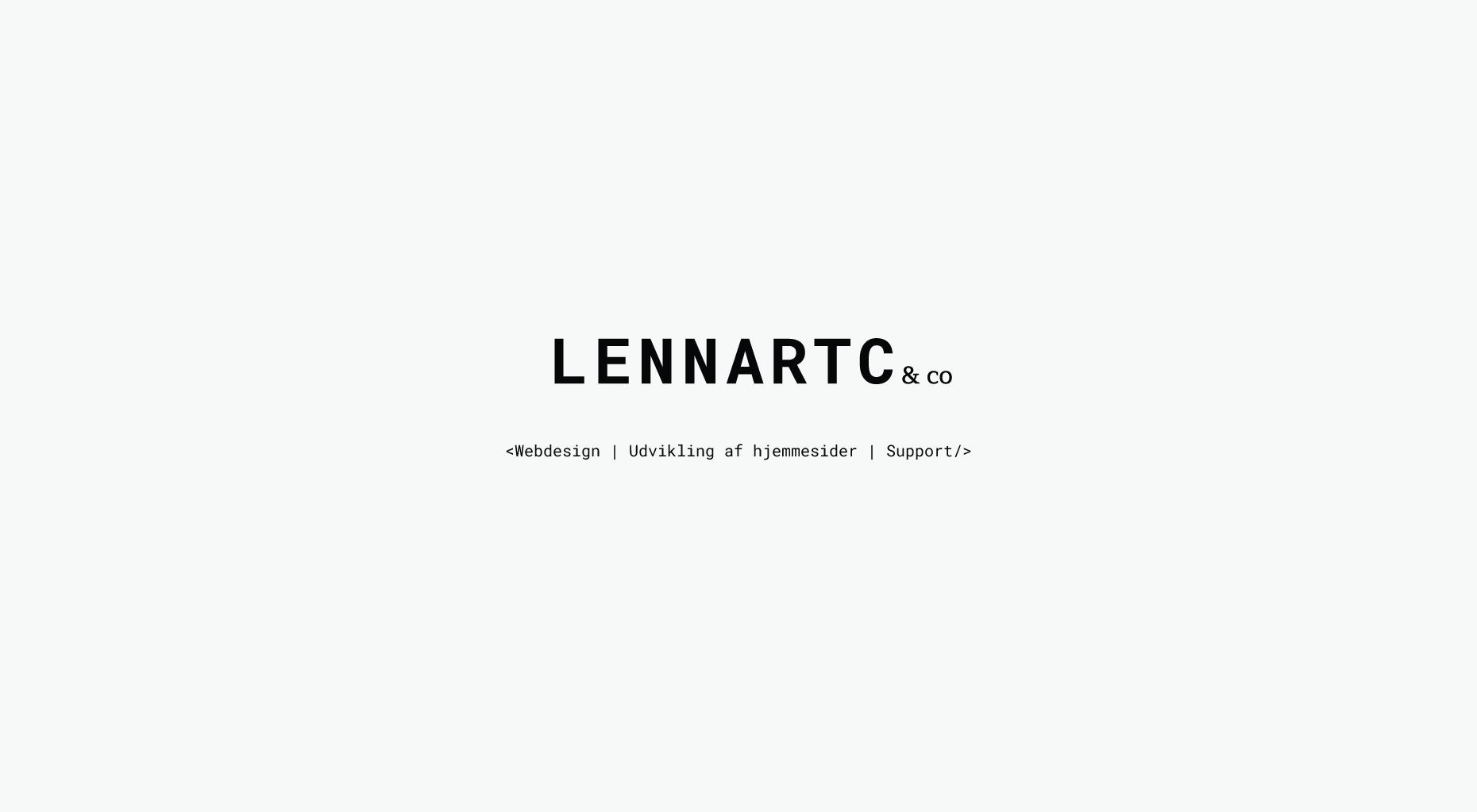 Lennart c Webdesigner CCO ApS WordPress