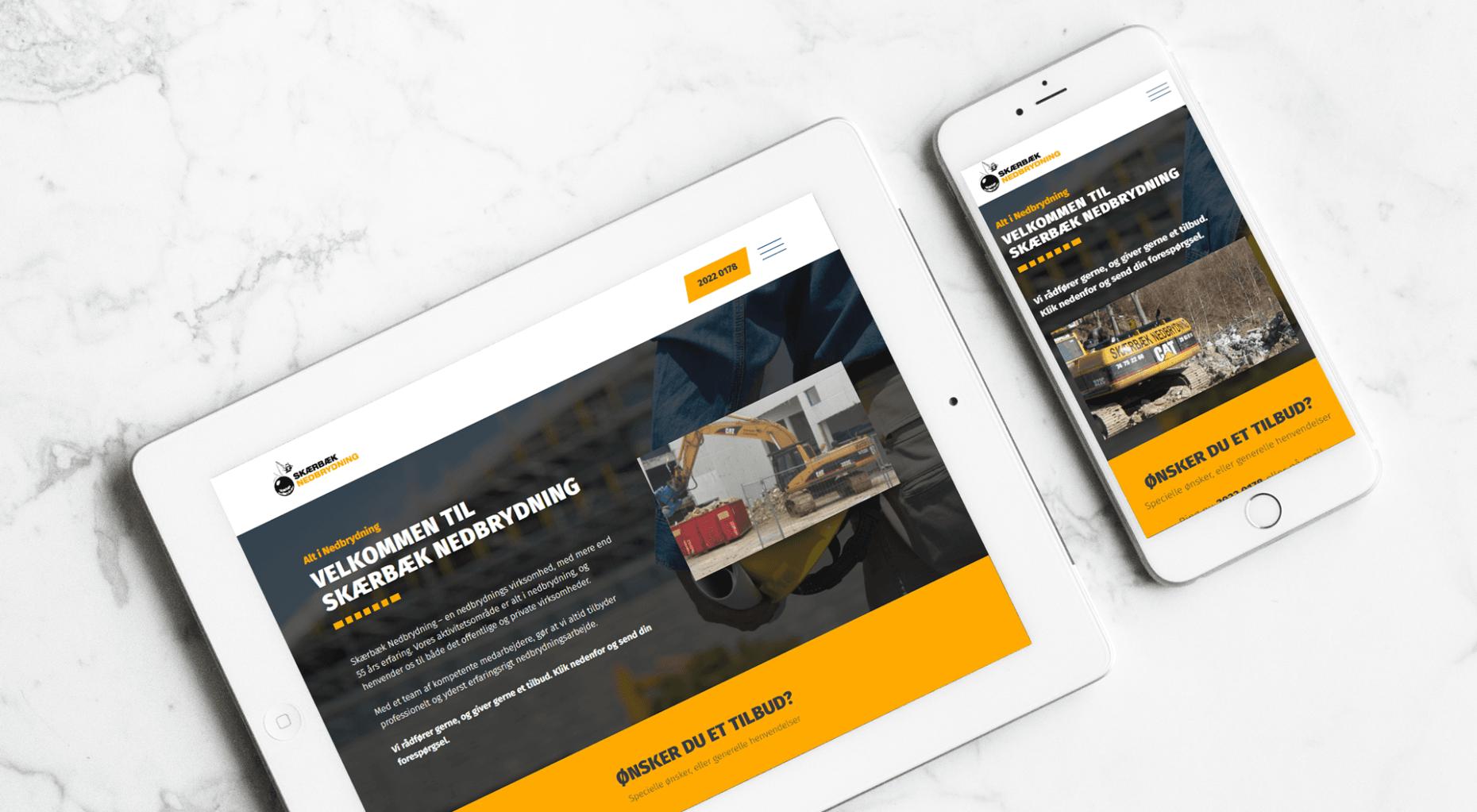 lennartc webdesign - skærbæk nedbrydning case
