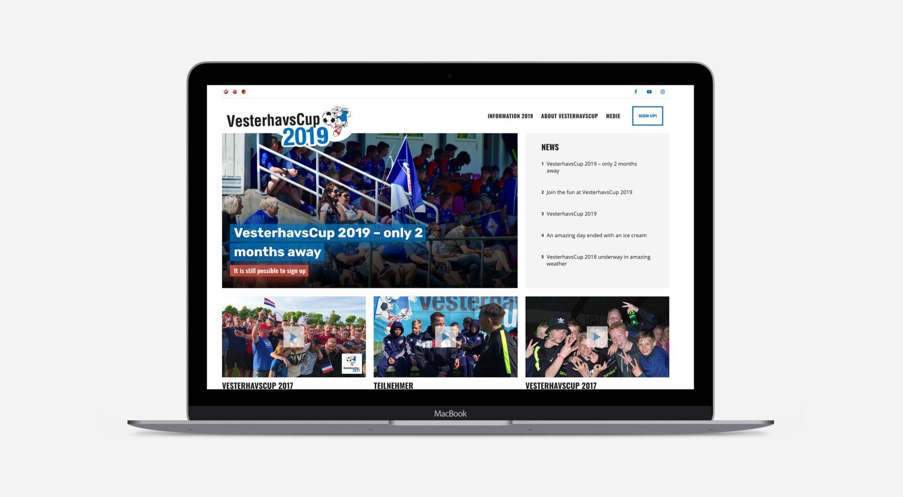 lennartc webdesign - vesterhavscup.dk case